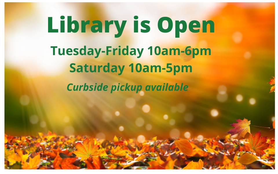 Library is open-fall slide for website