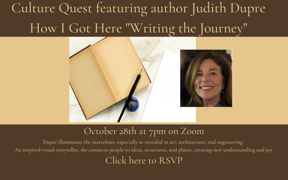 Culture Quest featuring Judith Dupre soliloquy