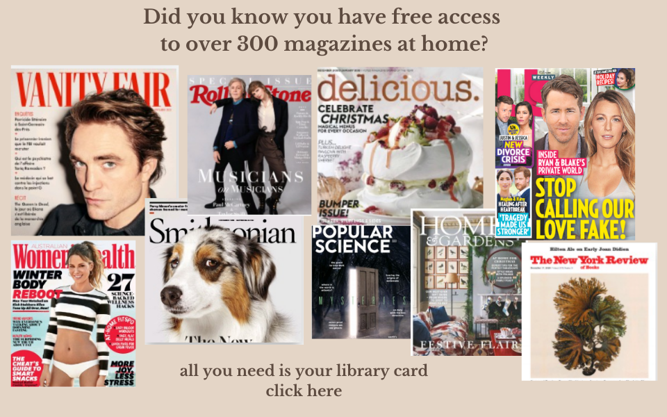 Did you know you have free access to over 300 magazines at home with your library card_ tv