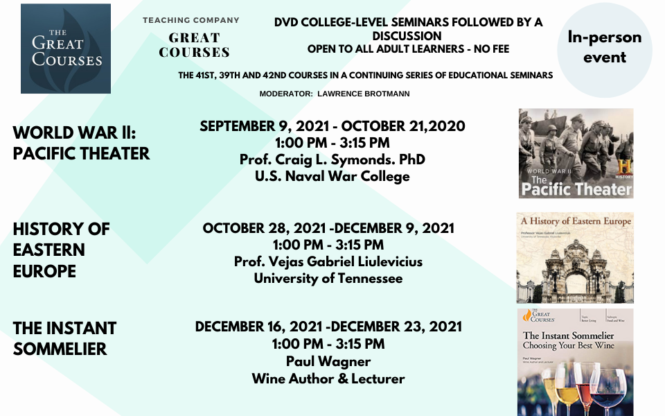 Great Courses Fall 2021 for website