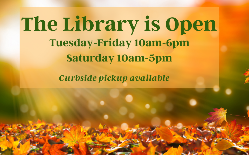 Library is open-fall