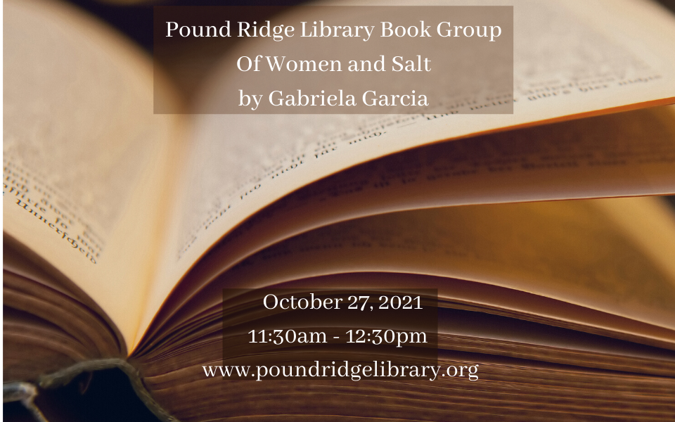 Pound Ridge Library Book Group Oct.27, 2021 sol.